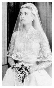Grace Kelly wedding ensemble.
