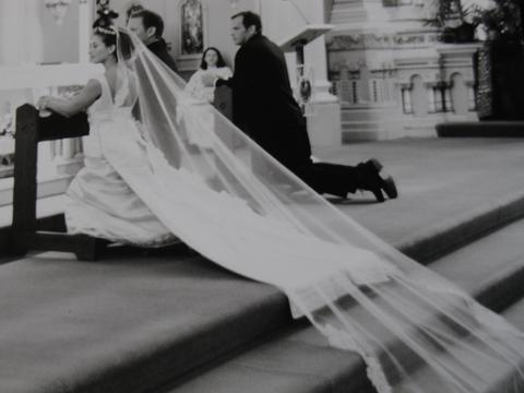 sweeping veils