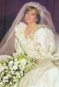 Princess Diana wedding portrait